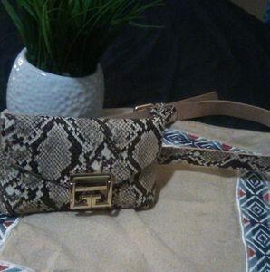 Snakeskin fanny pack
